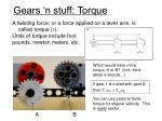gears n stuff torque
