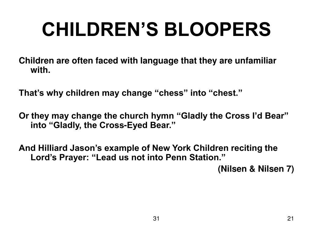 CHILDREN'S BLOOPERS