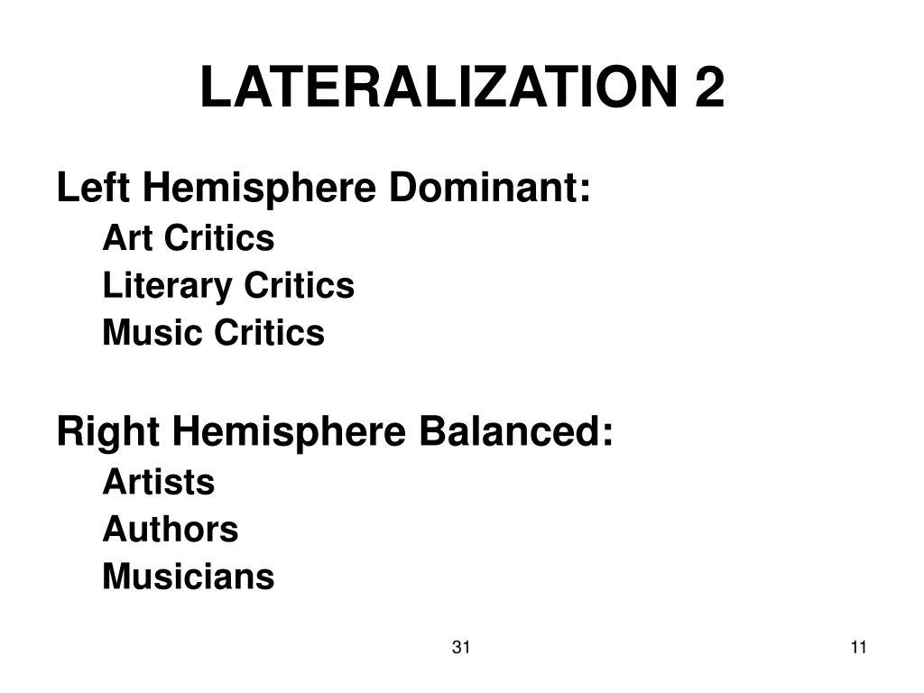 LATERALIZATION 2