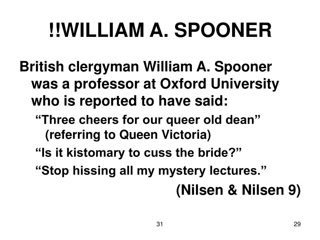 !!WILLIAM A. SPOONER