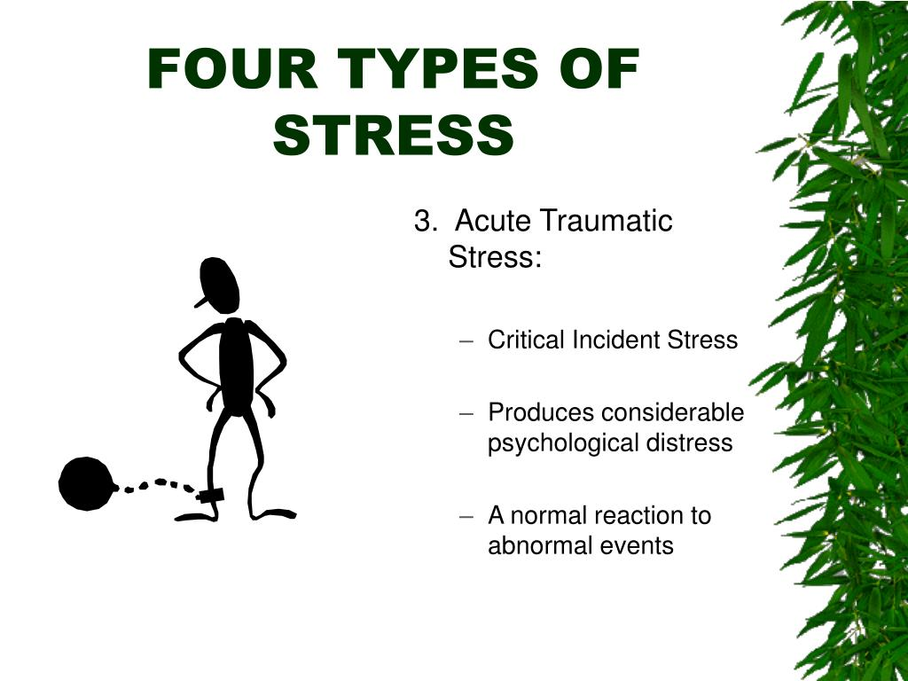 FOUR TYPES OF STRESS