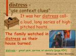 distress use context clues
