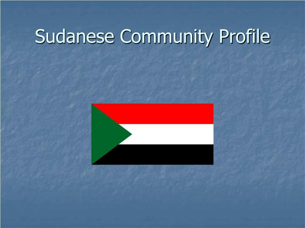 sudanese community profile l.