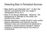detecting bias in periodical sources