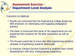 assessment exercise department level analysis32