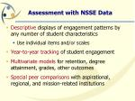 assessment with nsse data
