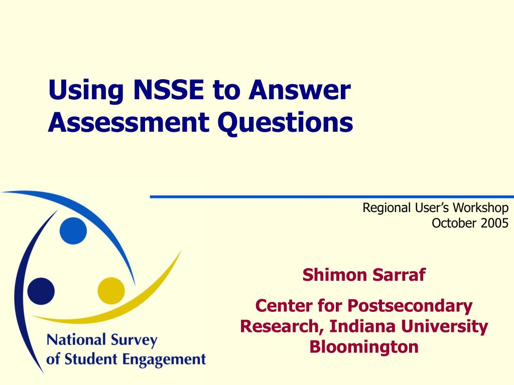 using nsse to answer assessment questions