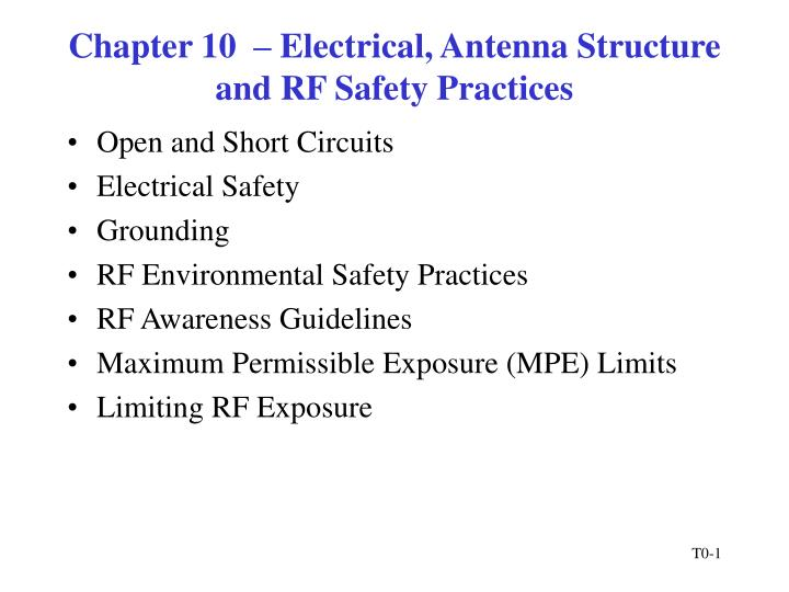 Chapter 10 electrical antenna structure and rf safety practices