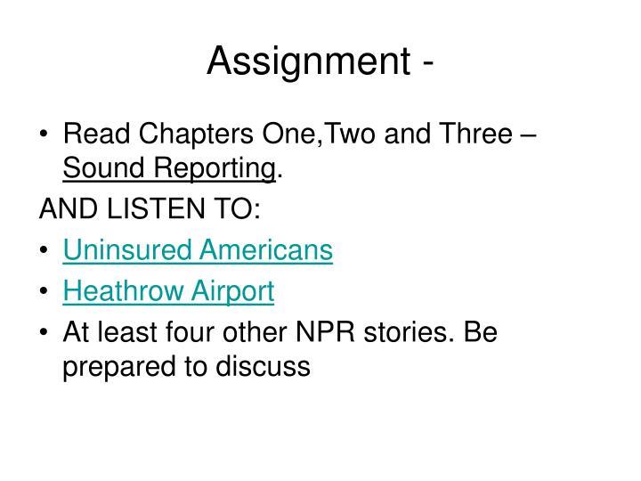 Assignment -