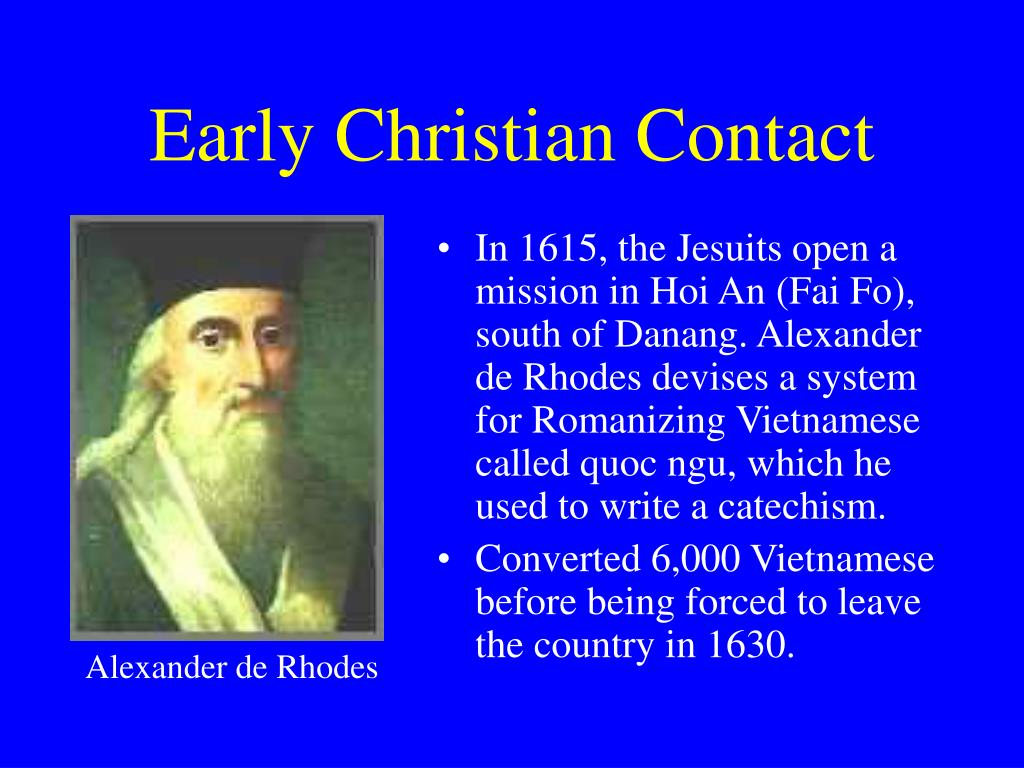 Early Christian Contact