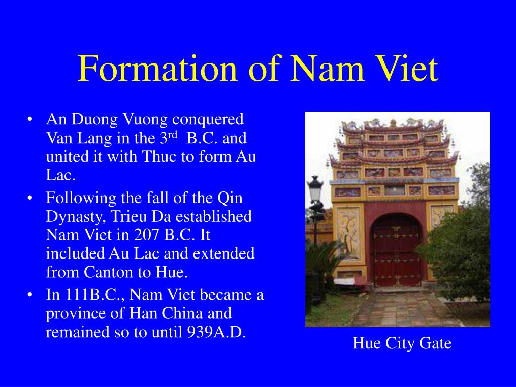 Formation of Nam Viet