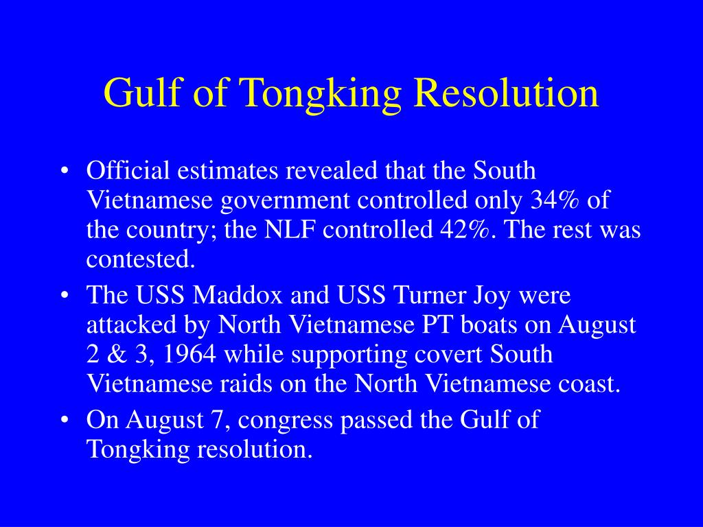 Gulf of Tongking Resolution