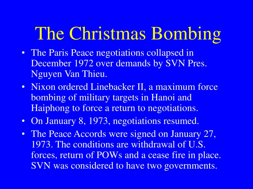 The Christmas Bombing