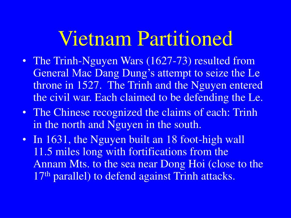 Vietnam Partitioned