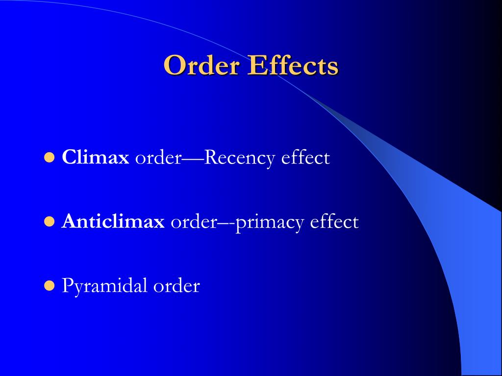 Order Effects