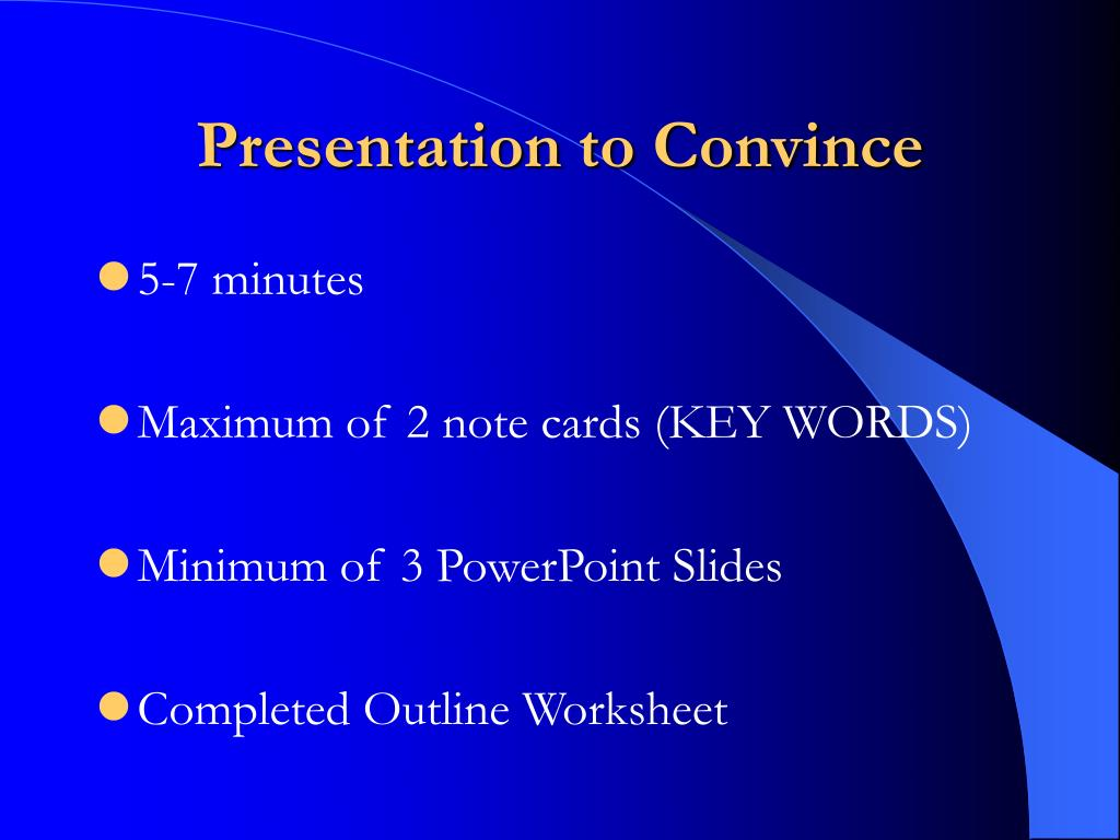 Presentation to Convince