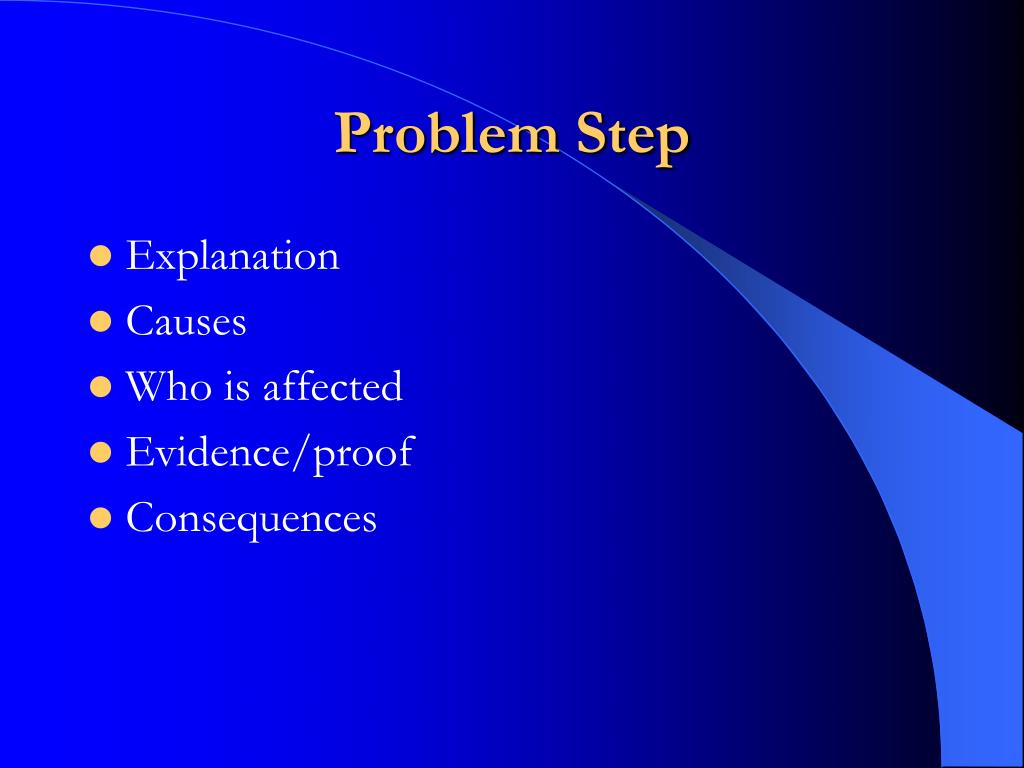 Problem Step