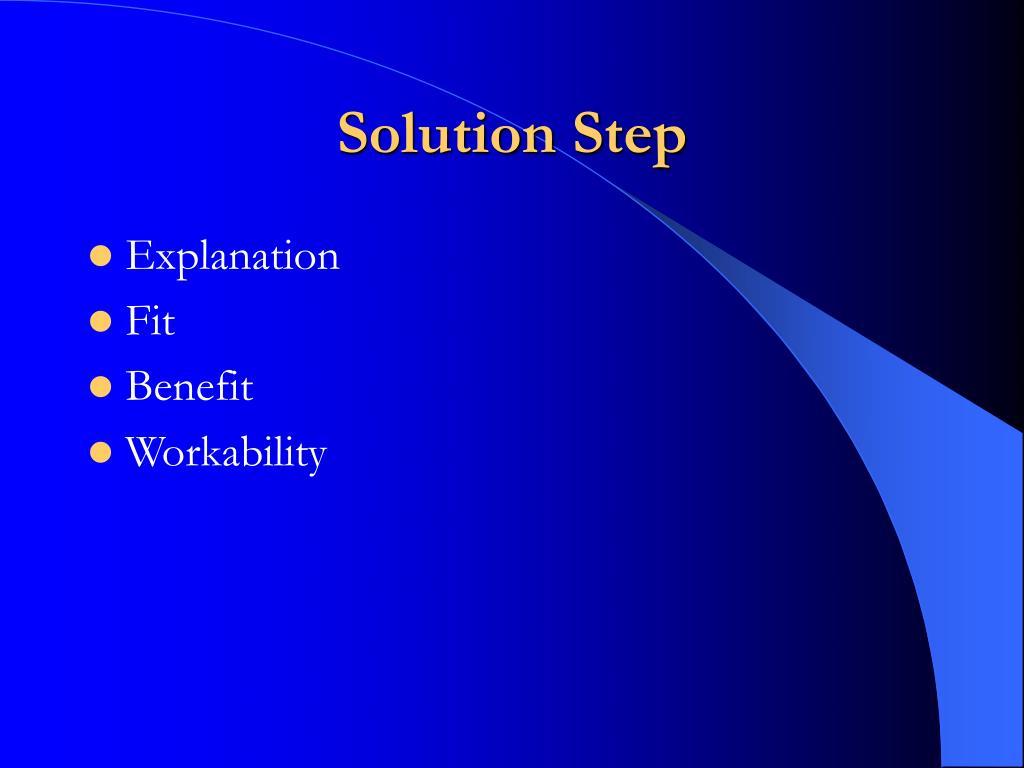Solution Step