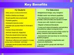 key benefits