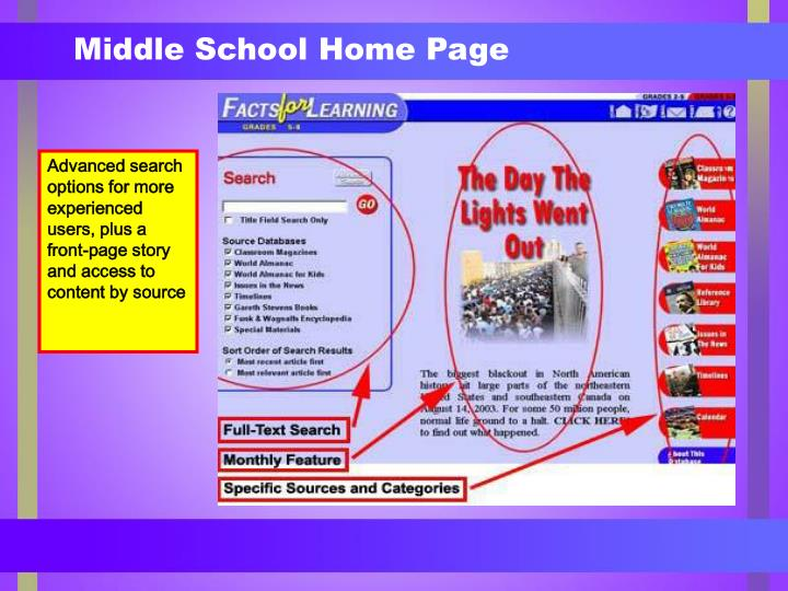 Middle School Home Page