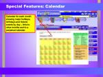 special features calendar