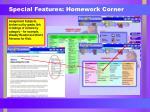 special features homework corner