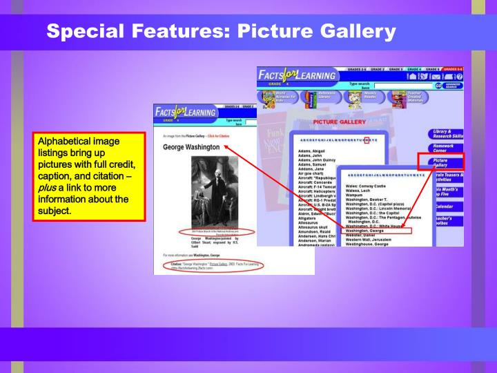 Special Features: Picture Gallery