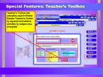 special features teacher s toolbox