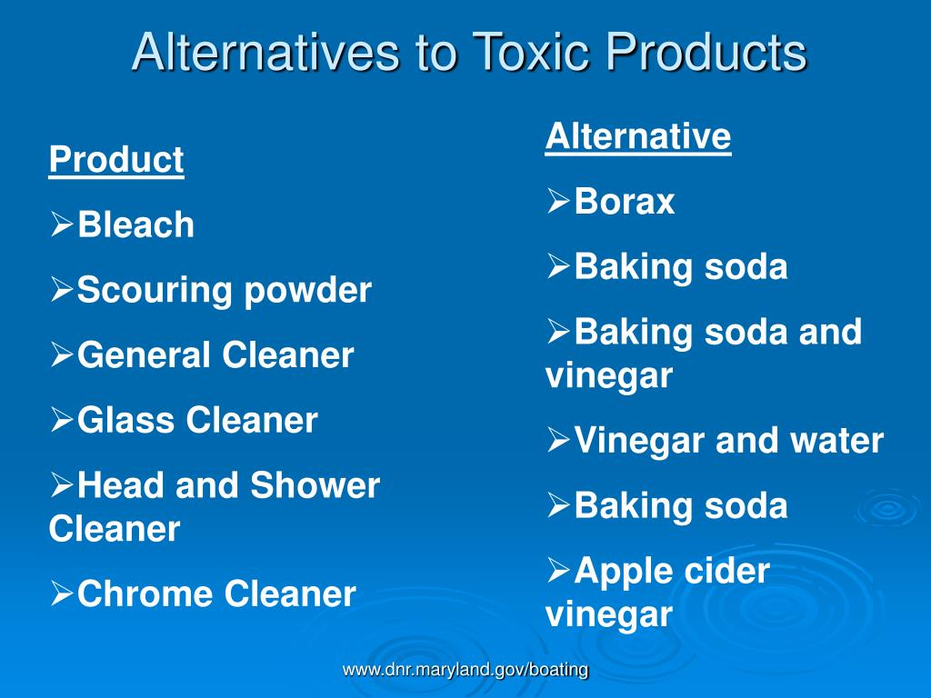 Alternatives to Toxic Products