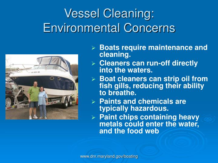Vessel cleaning environmental concerns