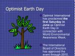 optimist earth day
