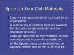 spice up your club materials