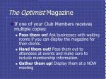 the optimist magazine