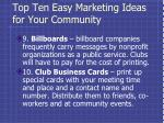 top ten easy marketing ideas for your community4