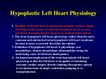 hypoplastic left heart physiology