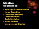 elective sequences