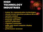 high technology industries