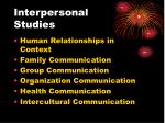 interpersonal studies