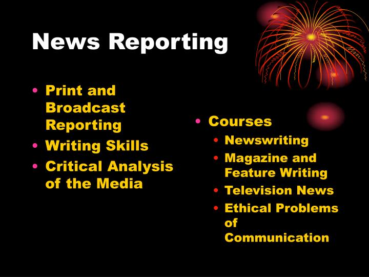 Print and Broadcast Reporting