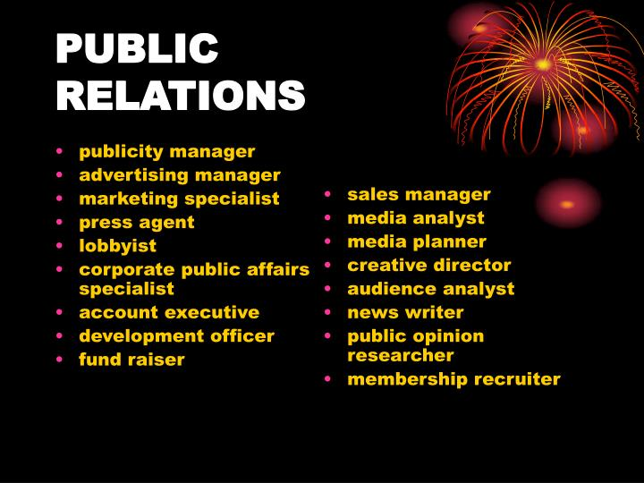 publicity manager