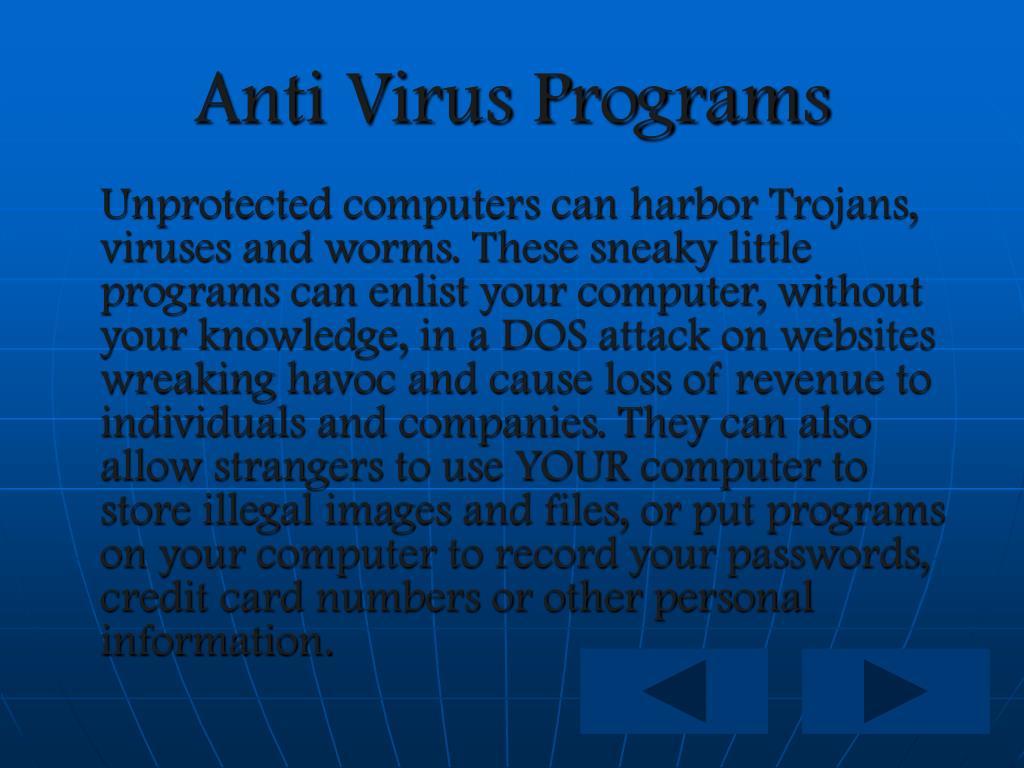 Anti Virus Programs
