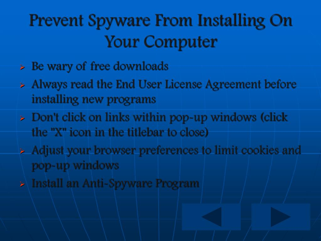 Prevent Spyware From Installing On Your Computer