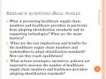 research questions real world