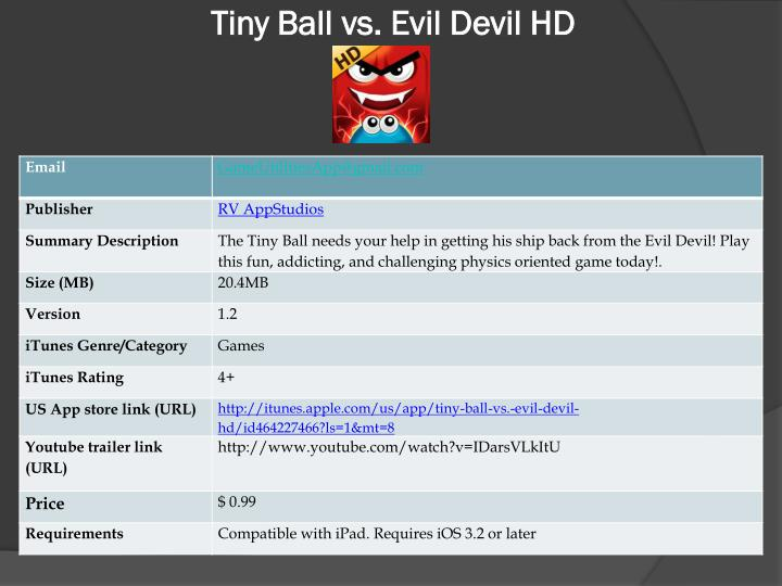Tiny ball vs evil devil hd