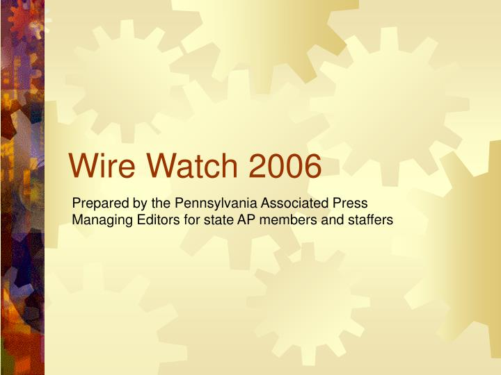 wire watch 2006 n.