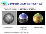 computer graphics 1980 1990