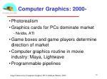computer graphics 2000