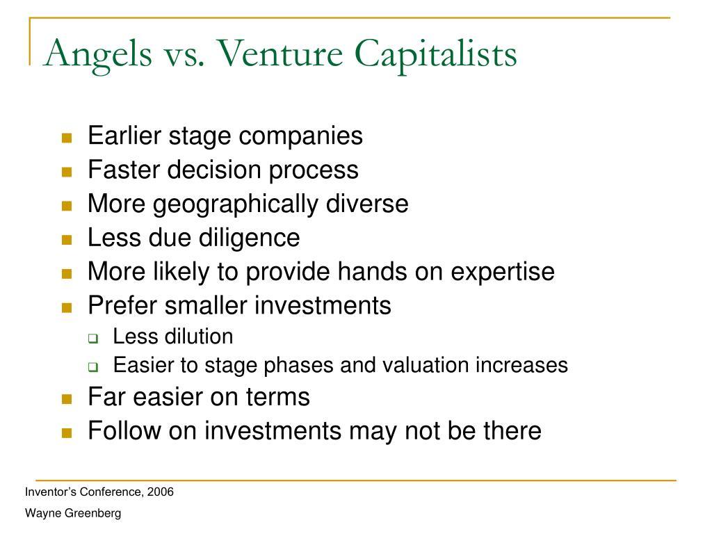 Angels vs. Venture Capitalists