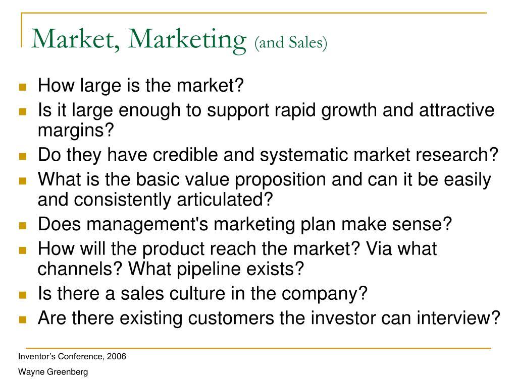 Market, Marketing