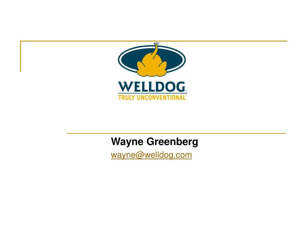 Wayne Greenberg